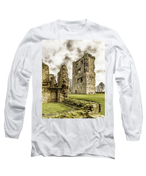 Long Sleeve T-Shirt featuring the photograph Ashby Castle by Nick Bywater