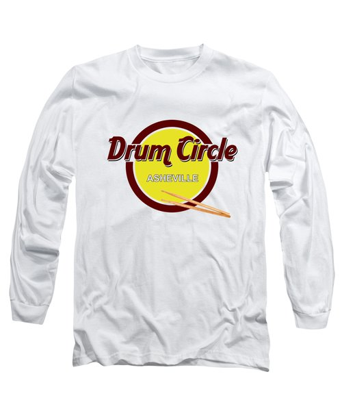 Asheville Drum Circle Logo Long Sleeve T-Shirt