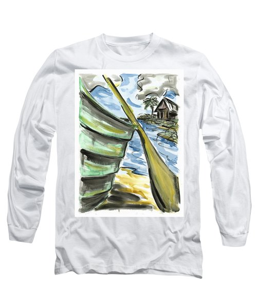 Long Sleeve T-Shirt featuring the painting Ashore by Robert Joyner