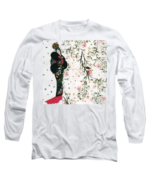 Asian Art Deco Beauty Long Sleeve T-Shirt