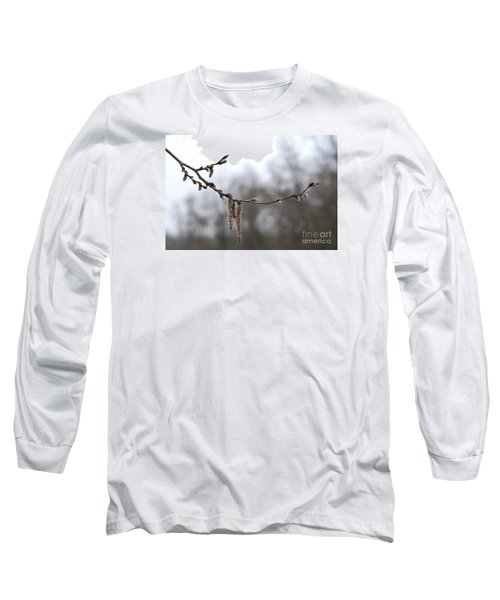 Long Sleeve T-Shirt featuring the photograph Aspen Catkins 20120316_15a by Tina Hopkins