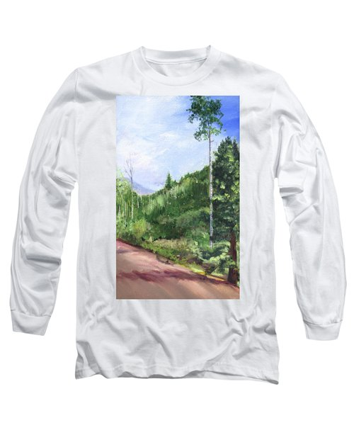 Long Sleeve T-Shirt featuring the painting Aspen Heaven by Jane Autry