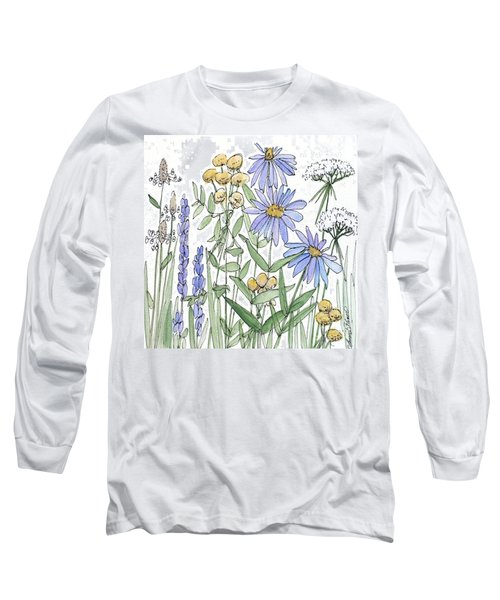 Asters And Wildflowers Long Sleeve T-Shirt