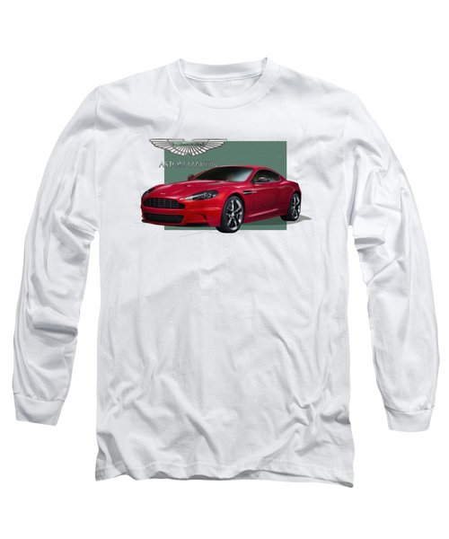 Aston Martin  D B S  V 12  With 3 D Badge  Long Sleeve T-Shirt