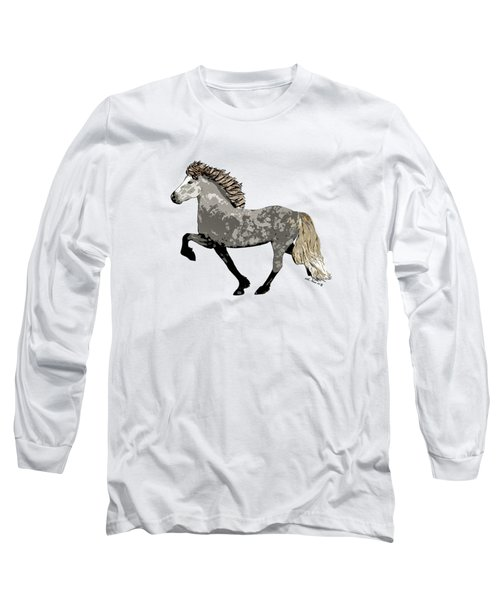 Long Sleeve T-Shirt featuring the painting Astrid by Shari Nees
