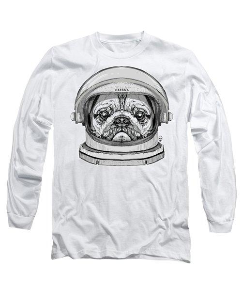 Astronault Pug Long Sleeve T-Shirt