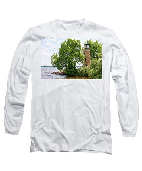Asylum Point Lighthouse 1 Long Sleeve T-Shirt by Trey Foerster