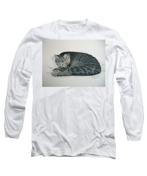 Long Sleeve T-Shirt featuring the painting At Rest by Norm Starks
