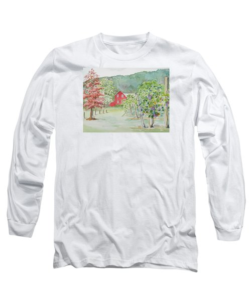 At The Winery Long Sleeve T-Shirt by Christine Lathrop