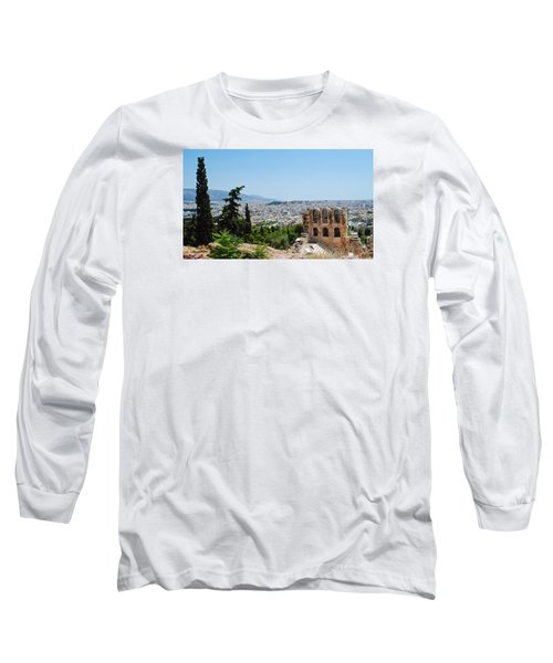 Long Sleeve T-Shirt featuring the photograph Athens From Acropolis by Robert Moss