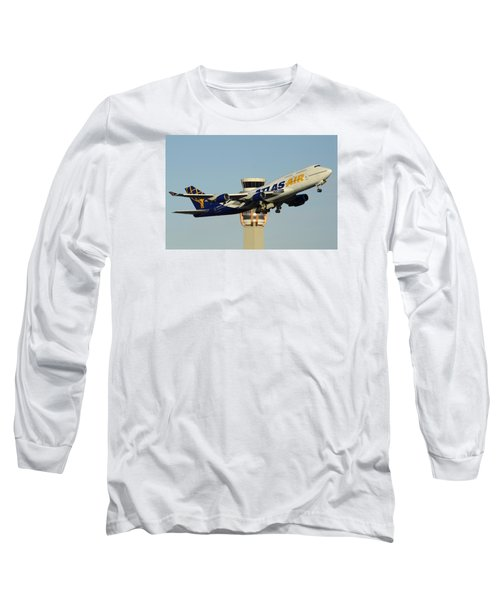Atlas Boeing 747-446 N465mc Phoenix Sky Harbor January 3 2015 Long Sleeve T-Shirt
