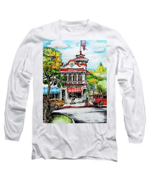 Long Sleeve T-Shirt featuring the painting Auburn Historical by Terry Banderas