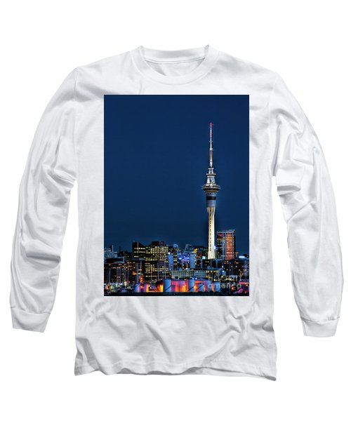 Auckland Skytower Long Sleeve T-Shirt by Karen Lewis