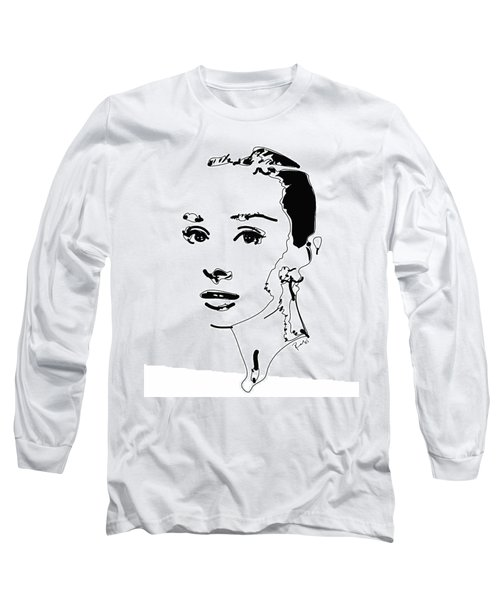 Audrey Hepburn Long Sleeve T-Shirt by Rabi Khan