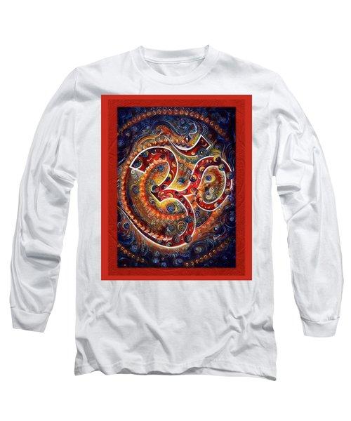 Aum - Vibrations Of Supreme Long Sleeve T-Shirt by Harsh Malik