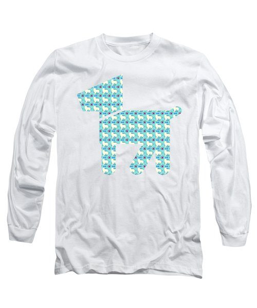 Aussie Dog Pattern Long Sleeve T-Shirt