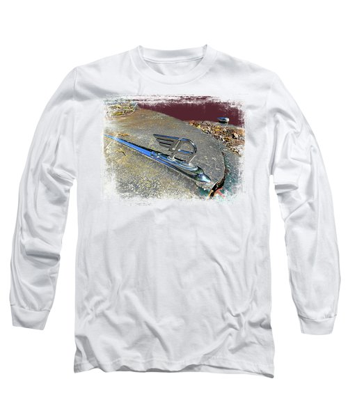 Long Sleeve T-Shirt featuring the photograph Austin A40 Somerset Flying A by Nick Kloepping