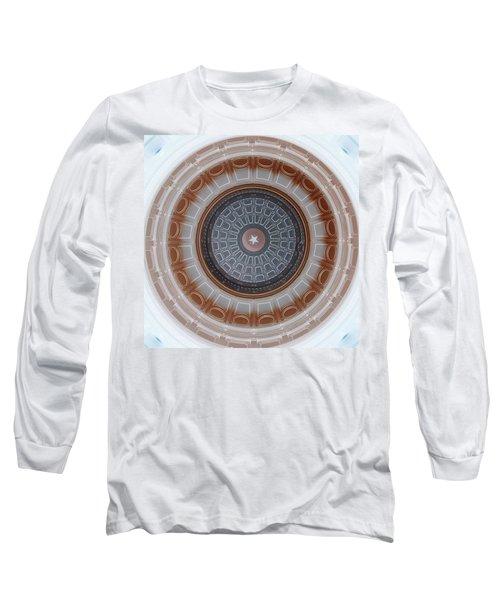 Austin Dome In Gray/brown Long Sleeve T-Shirt by Karen J Shine