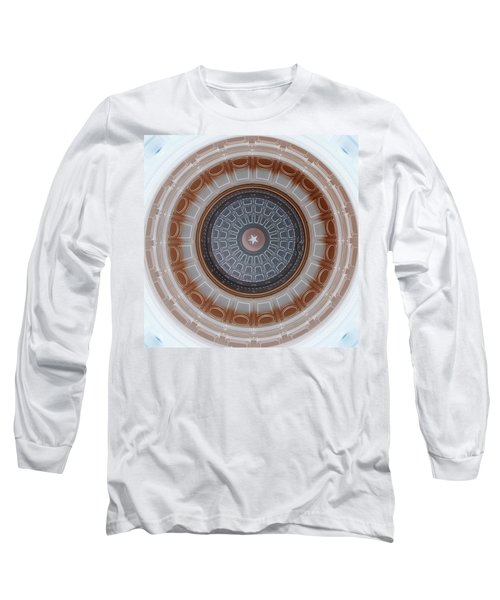 Austin Capitol Dome In Gray And Brown Long Sleeve T-Shirt