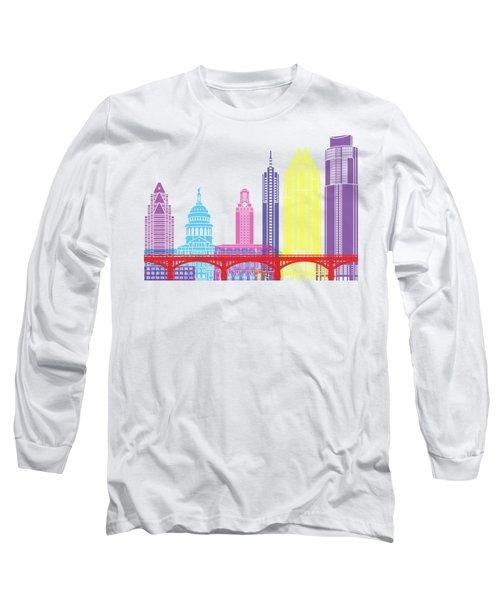 Austin Skyline Pop Long Sleeve T-Shirt by Pablo Romero