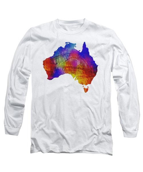 Australia And Sydney Harbour Bridge By Kaye Menner Long Sleeve T-Shirt