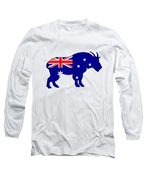Australian Flag - Mountain Goat Long Sleeve T-Shirt by Mordax Furittus