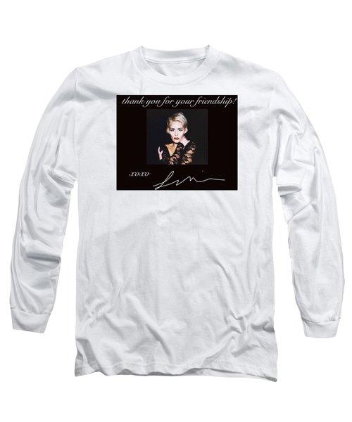 Autographed Portrait  Long Sleeve T-Shirt by Laura Michelle Corbin