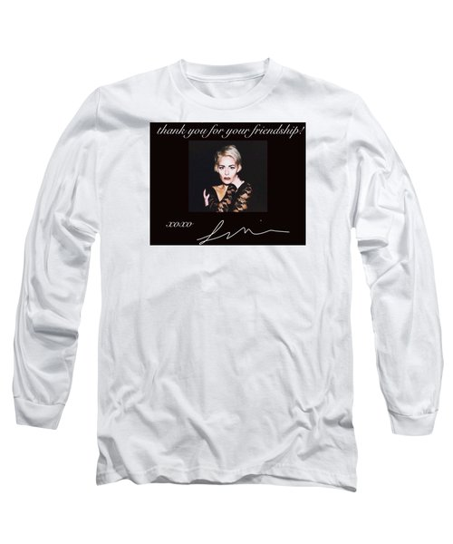 Autographed Portrait  Long Sleeve T-Shirt