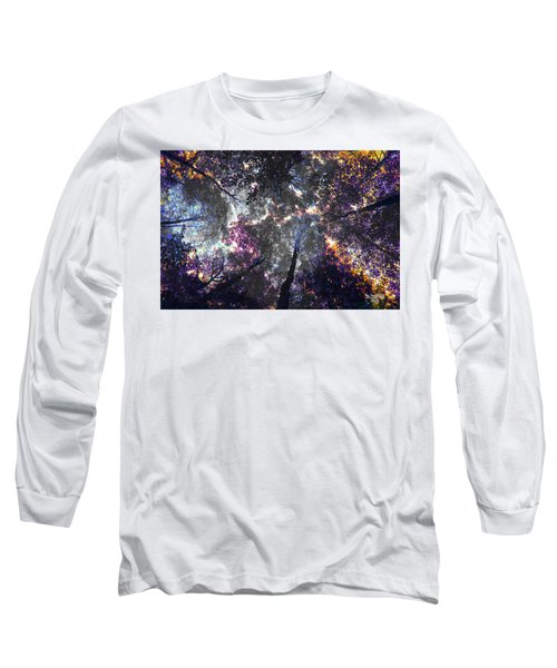 Autumn Abstract Long Sleeve T-Shirt by David Stasiak