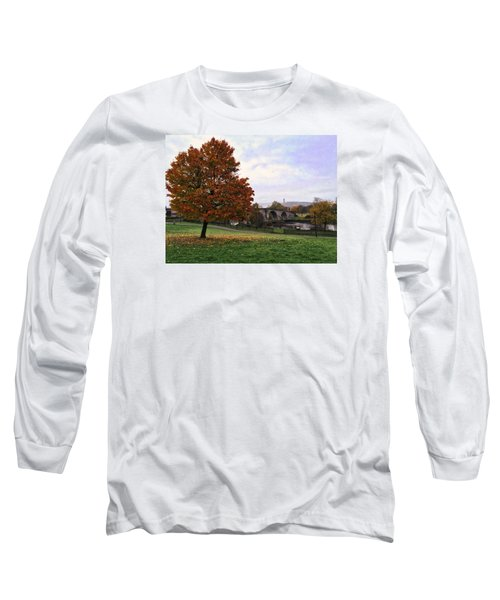 Autumn At Stirling Bridge Long Sleeve T-Shirt by RKAB Works