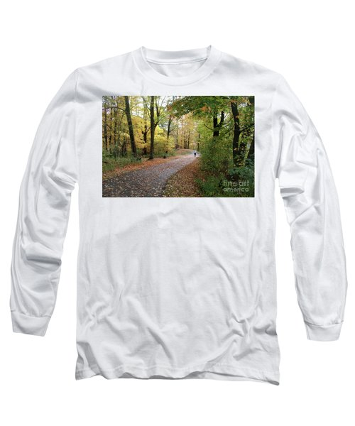 Autumn Bicycling Long Sleeve T-Shirt by Felipe Adan Lerma