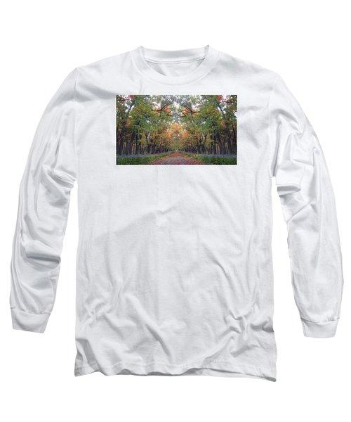 Autumn Canopy Long Sleeve T-Shirt by Cedric Hampton