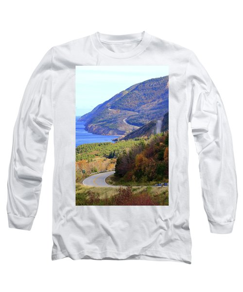 Autumn Color On The Cabot Trail, Cape Breton, Canada Long Sleeve T-Shirt