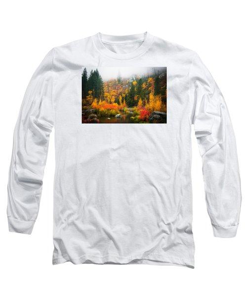 Long Sleeve T-Shirt featuring the photograph Autumn Colors Symphony by Dan Mihai