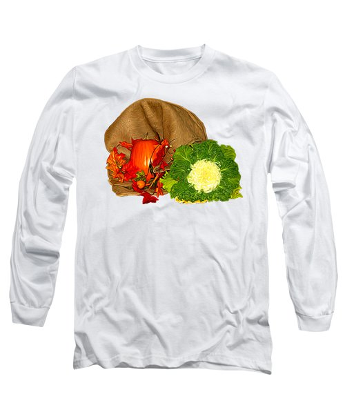 Autumn Display Expressionist Effect Long Sleeve T-Shirt