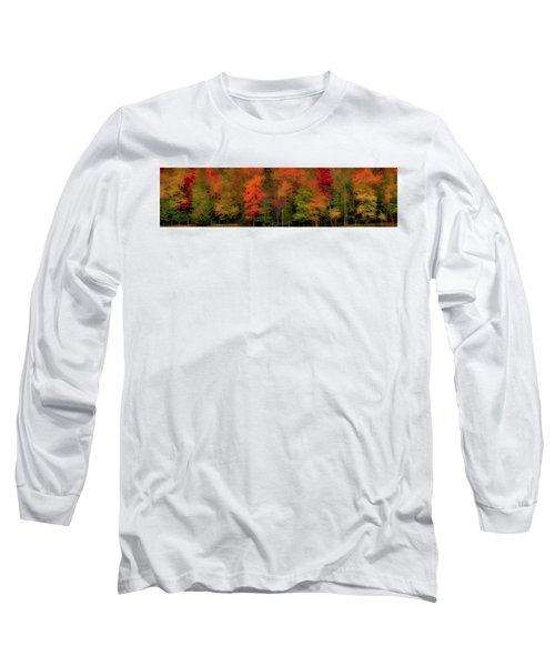 Autumn Fence Line Long Sleeve T-Shirt