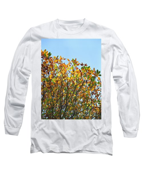 Long Sleeve T-Shirt featuring the photograph Autumn Flames - Original by Rebecca Harman