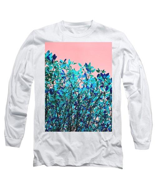 Autumn Flames - Peach Long Sleeve T-Shirt by Rebecca Harman