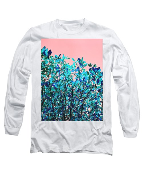 Long Sleeve T-Shirt featuring the photograph Autumn Flames - Peach by Rebecca Harman