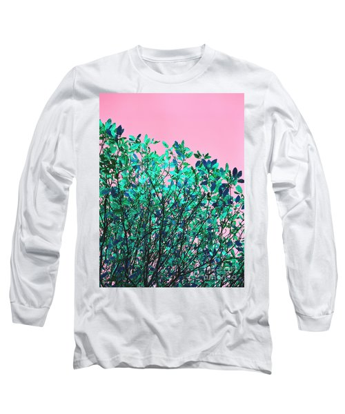 Long Sleeve T-Shirt featuring the photograph Autumn Flames - Pink by Rebecca Harman