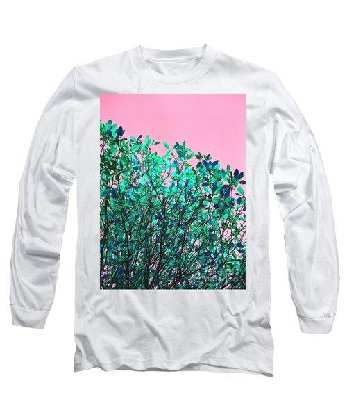 Autumn Flames - Pink Long Sleeve T-Shirt by Rebecca Harman