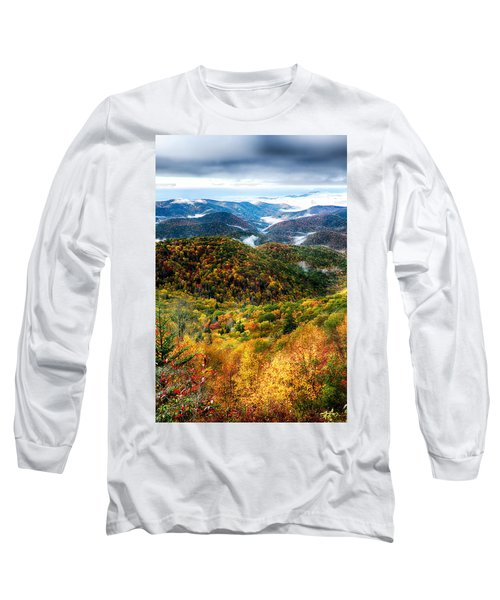 Autumn Foliage On Blue Ridge Parkway Near Maggie Valley North Ca Long Sleeve T-Shirt