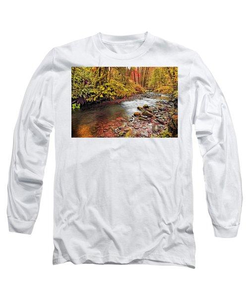 Autumn In An Oregon Rain Forest  Long Sleeve T-Shirt