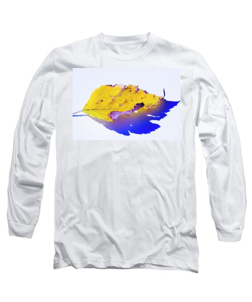 Long Sleeve T-Shirt featuring the photograph Autumn Leaf Abstract by Yulia Kazansky