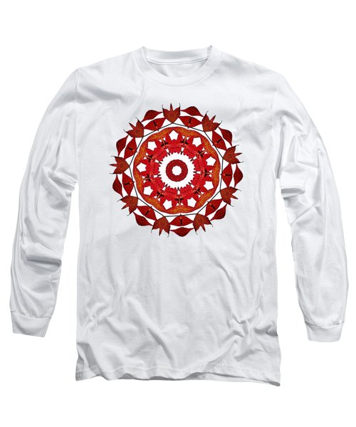 Long Sleeve T-Shirt featuring the photograph Autumn Leaves Mandala By Kaye Menner by Kaye Menner