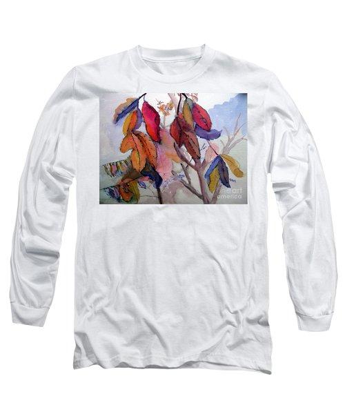 Autumn Leaves Long Sleeve T-Shirt by Sandy McIntire