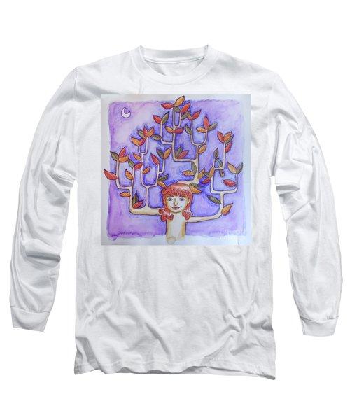 Autumn Moon Long Sleeve T-Shirt by Whitney Morton