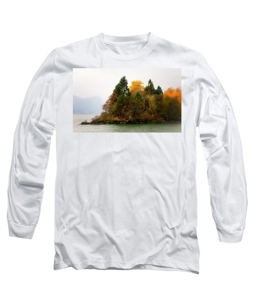 Long Sleeve T-Shirt featuring the photograph Autumn On The Columbia by Albert Seger