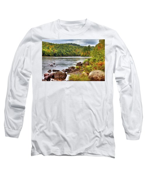 Long Sleeve T-Shirt featuring the photograph Autumn On The Hudson River by David Patterson