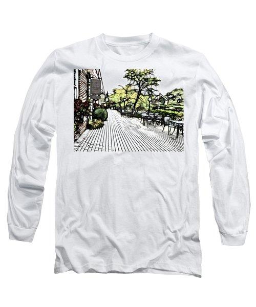 Autumn Patio Long Sleeve T-Shirt